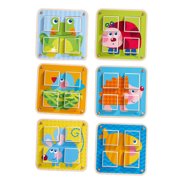 Picture of CUBES PUZZLE GARDEN ANIMALS